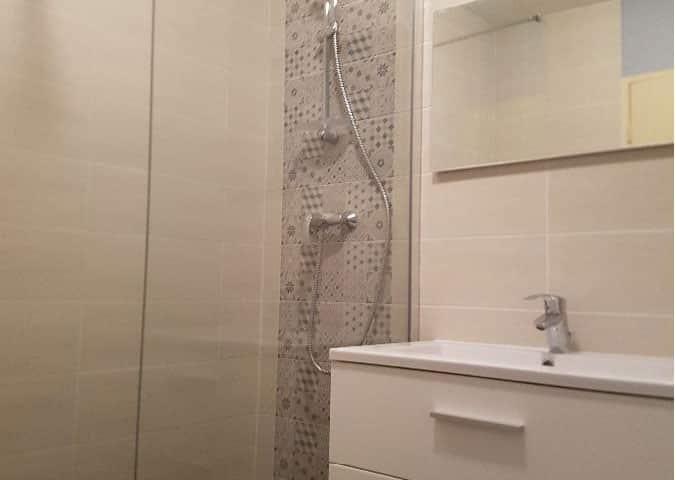 G 5 douche italienne remplacement baignoire