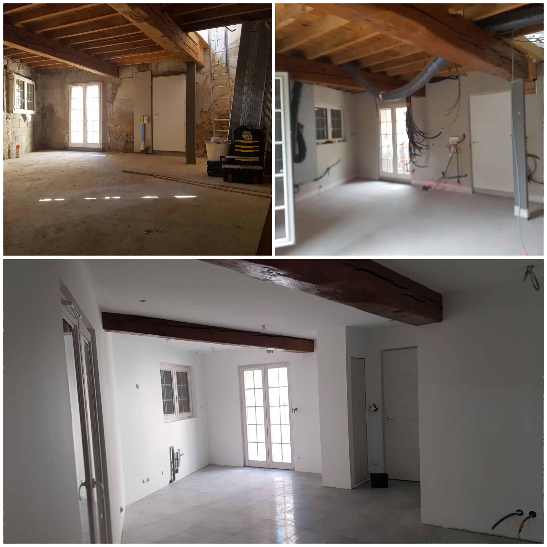 Rénovation maison à Saint-Genis-les-Ollières